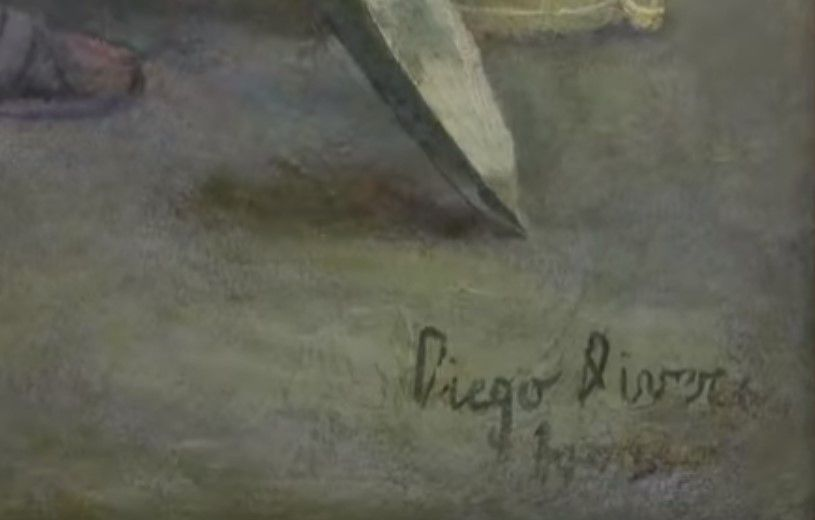 Diego Riviera signature at the bottom