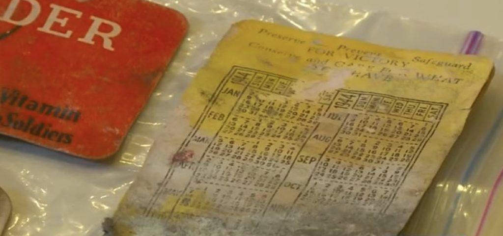 old calendar in wallet