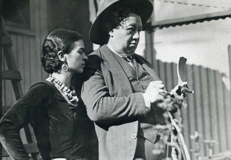 painter Riviera and his wife