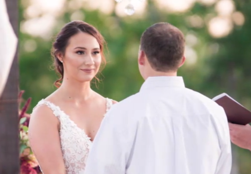 bride-to-be and her Fiancé at the altar