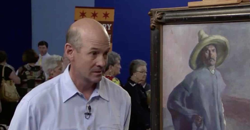 the appraiser valuates the painting
