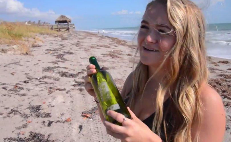 Nikki Snow finds message in bottle