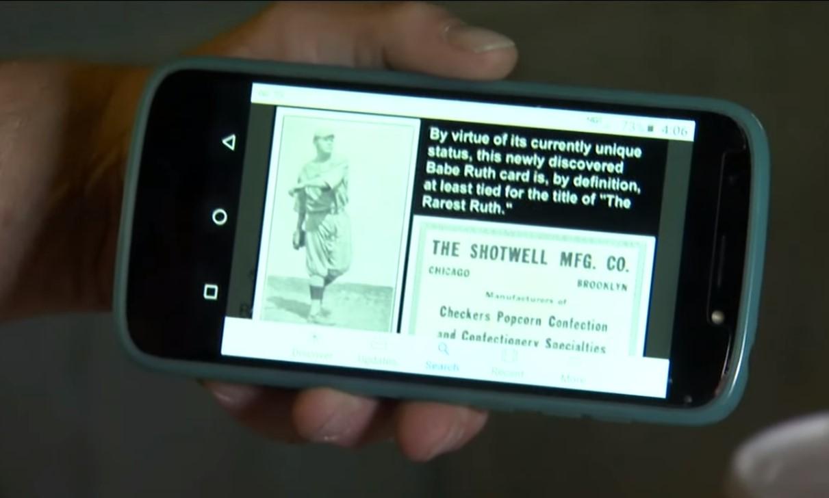 rare Babe Ruth baseball card worth a fortune