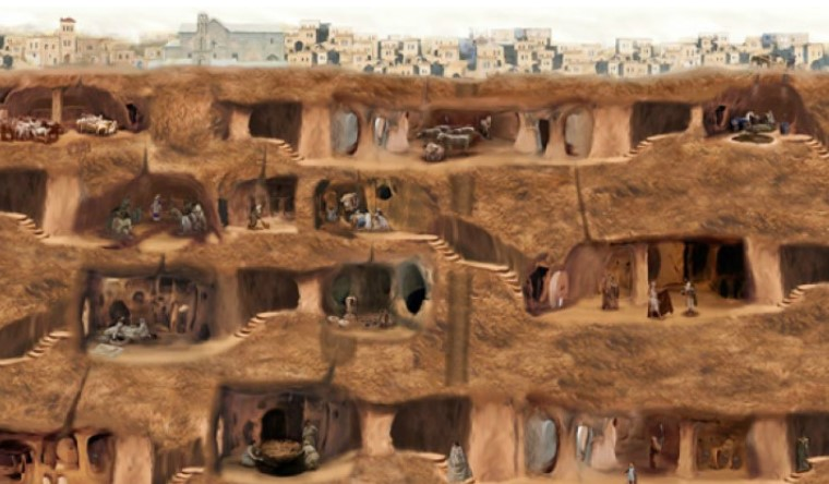 a hidden city inside the underground cave