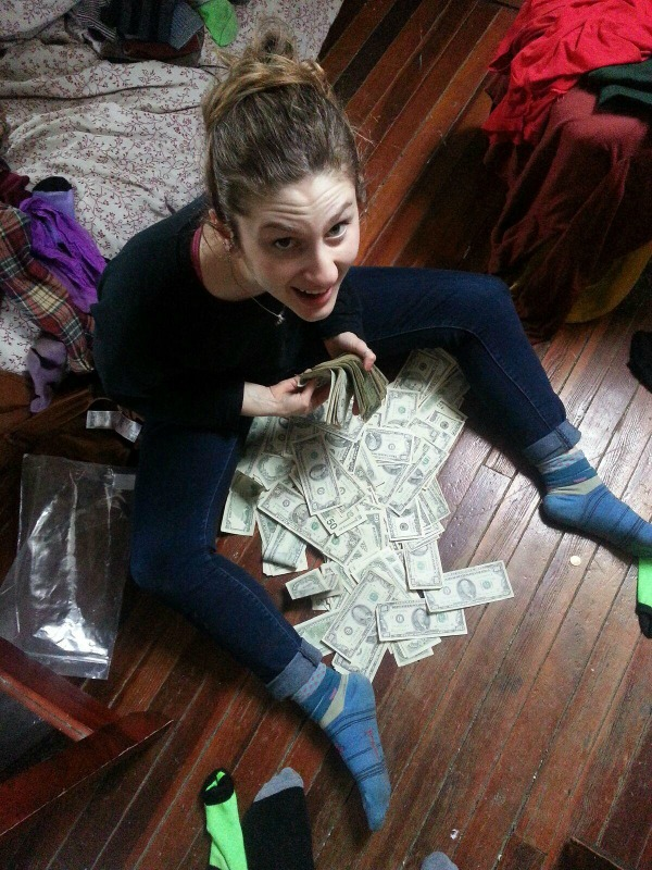 students find cash inside old couch