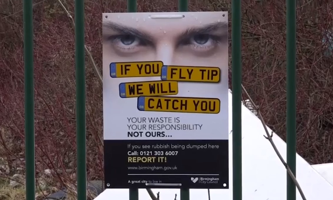 fly tippers will be caught
