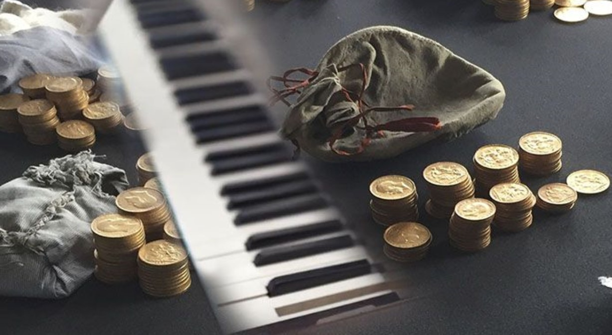 a portion goes to the current owners of the piano
