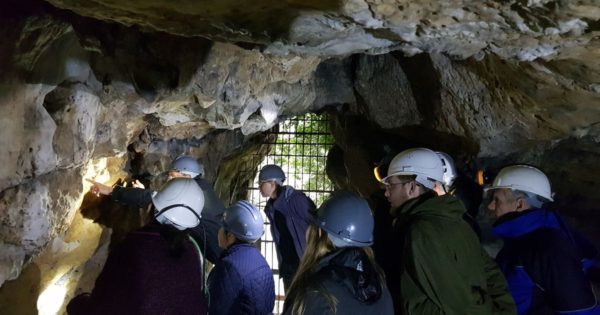 guided tour in Robin Hood's Cave