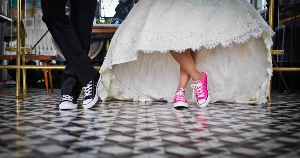 Converse shoes on the bride
