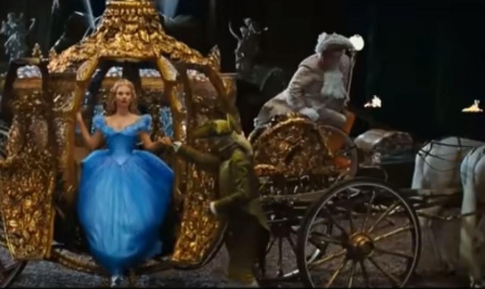 the movie Cindarella in theater
