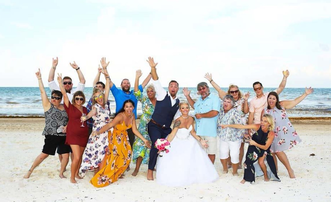 the best friends had a perfect wedding