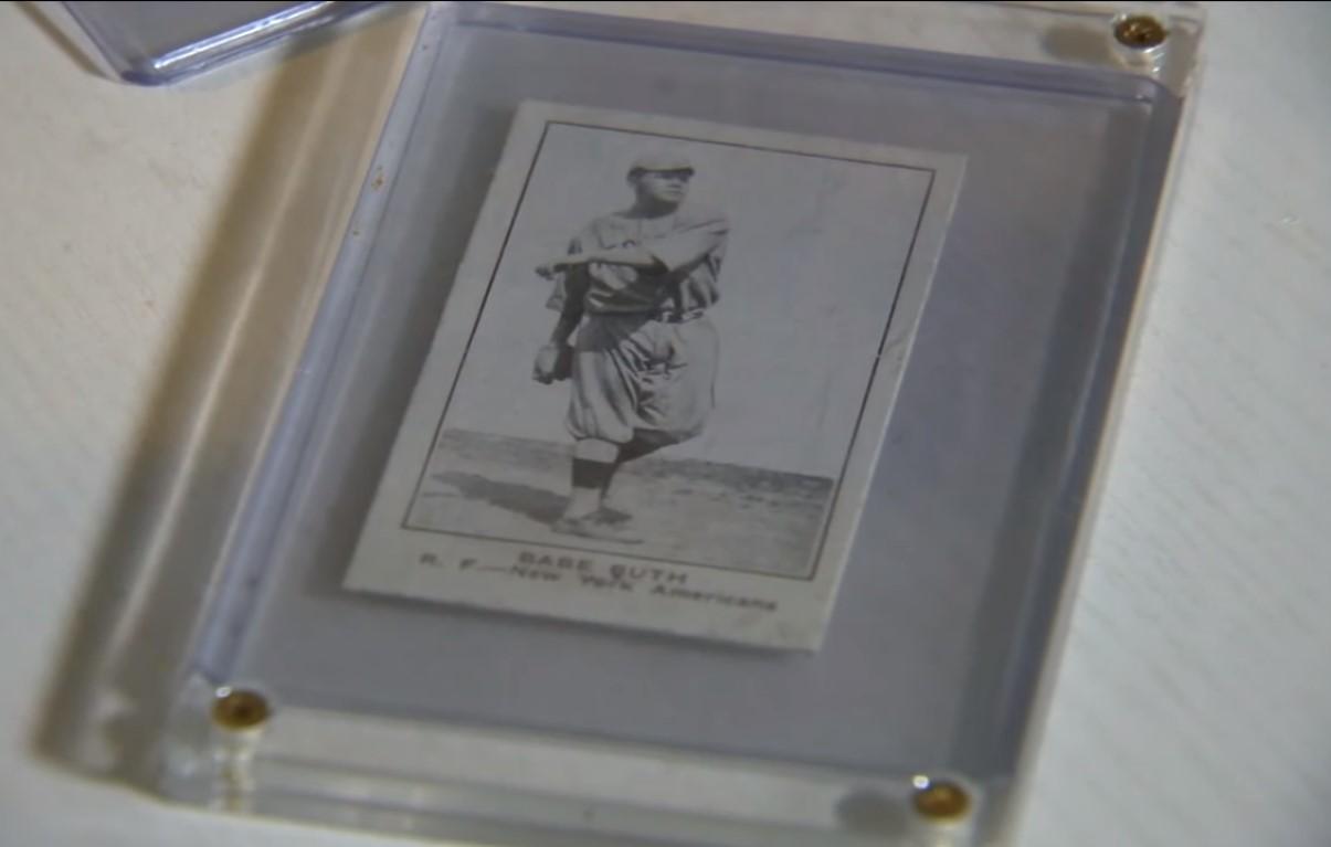a Babe Ruth collector baseball card