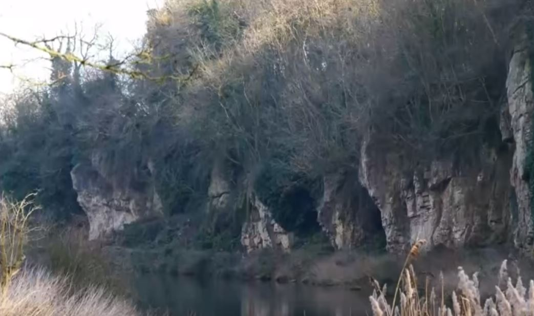 The entrance to the Robin Hood Cave