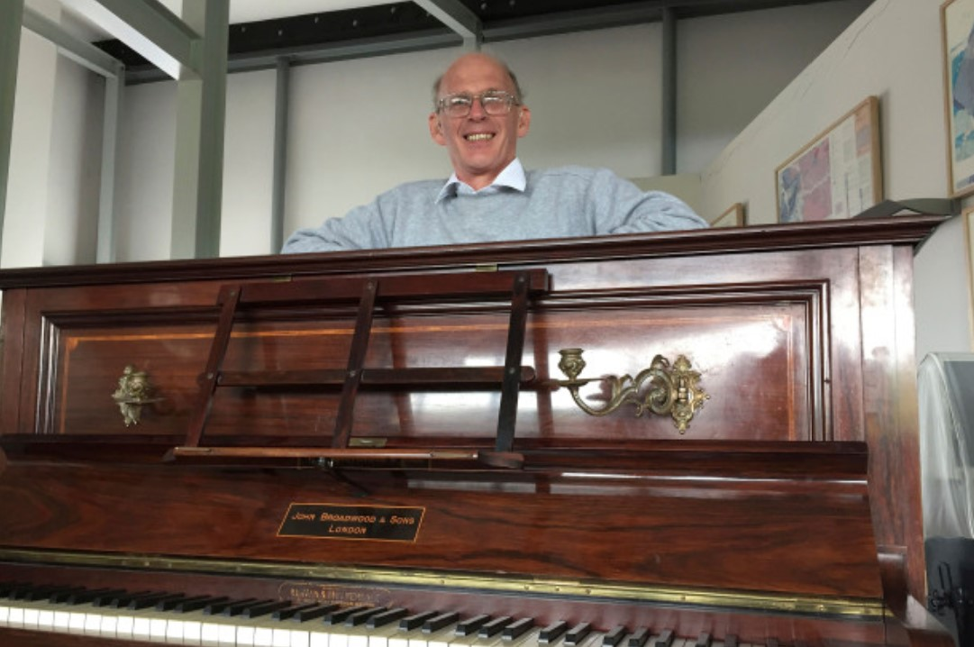 an antique piano came with a surprise