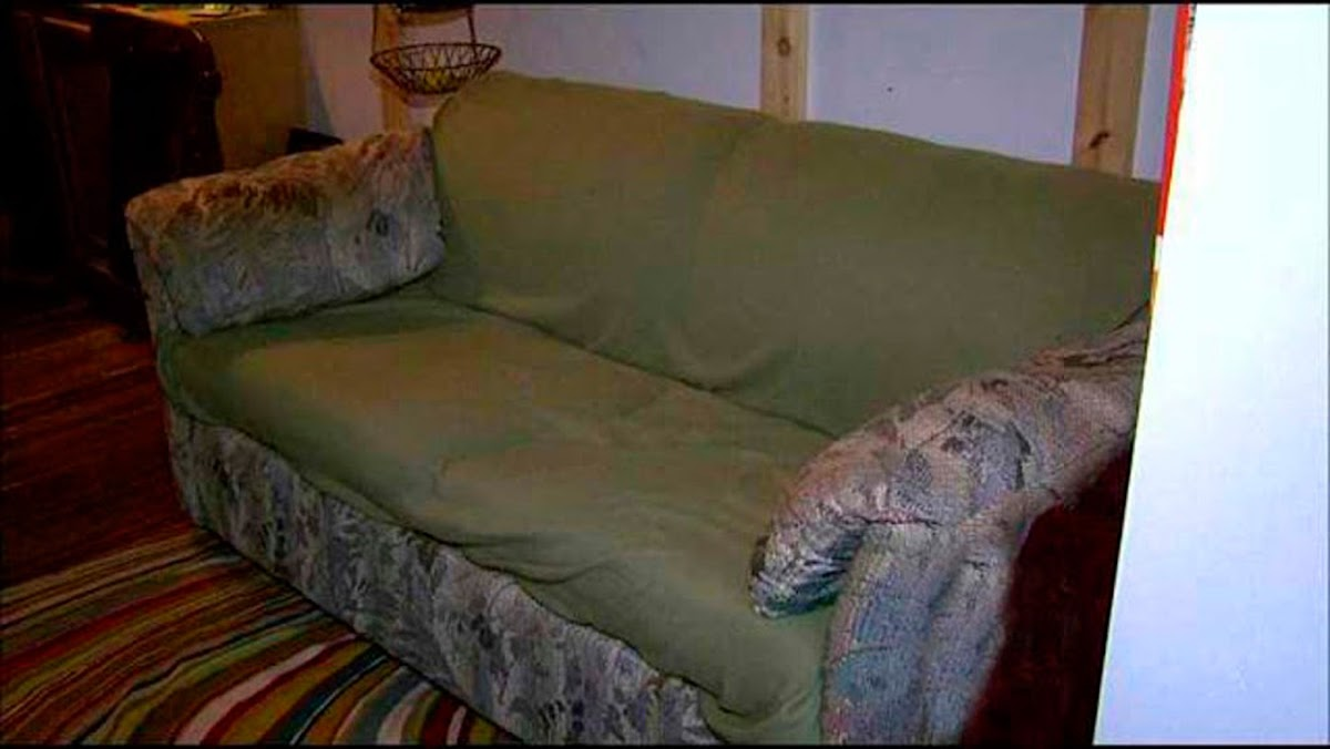 behind the cushions were wads of money