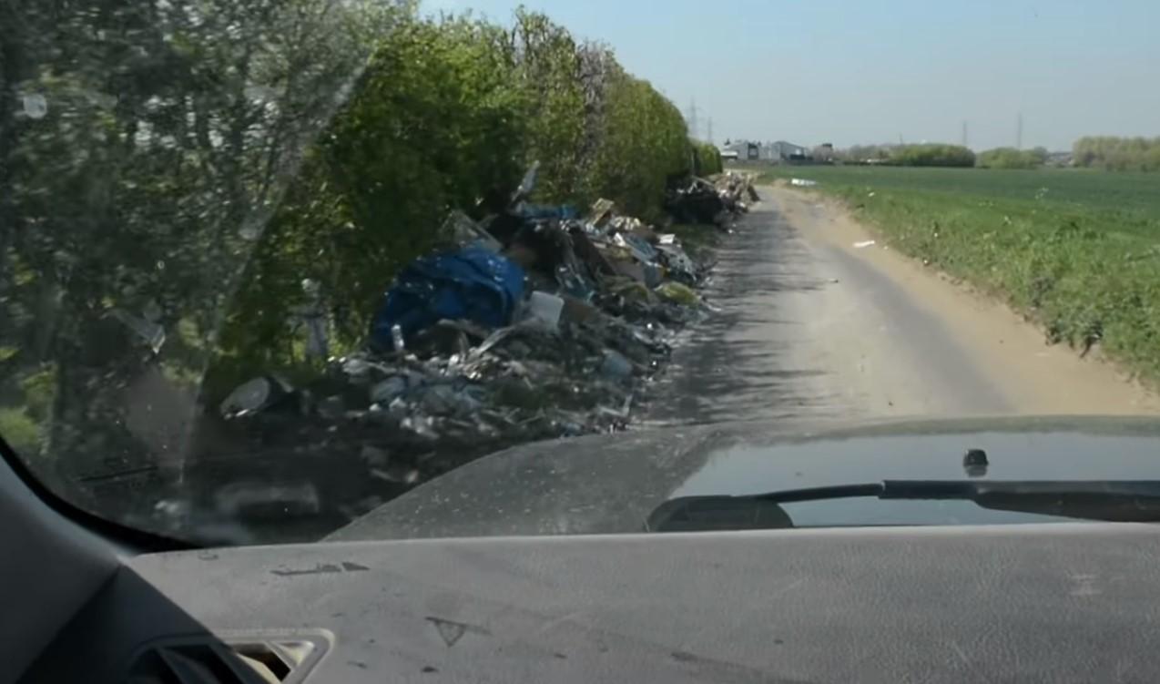 the rubbish left on Joe's farm