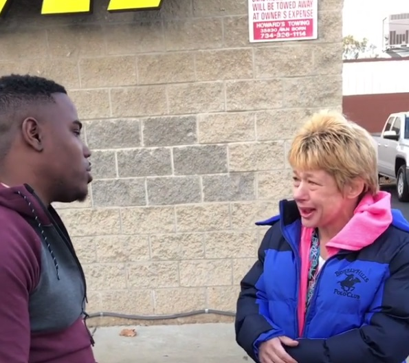 stranger approached her at gas station