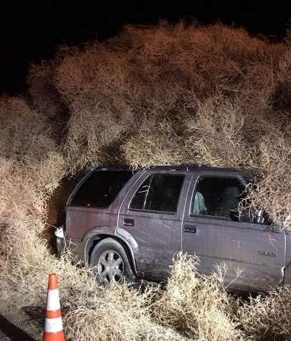 Giant Tumbleweed Eats Cars On New Year's Eve