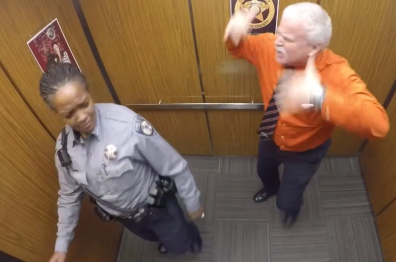 Deputy Didn't Realize A Camera Was Filming Him
