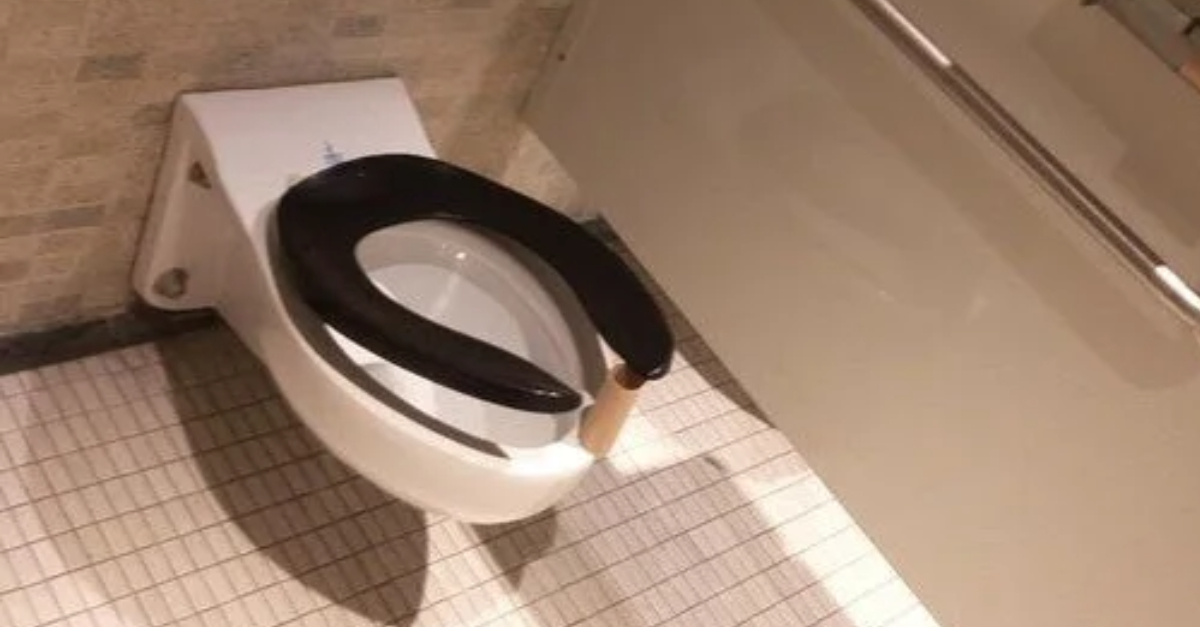 Always Put A Toilet Paper Roll Under The Seat